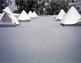 Devesa Garden El Saler (Valencia). Impermeabilización de cubiertas con lámina asfáltica autoprotegida